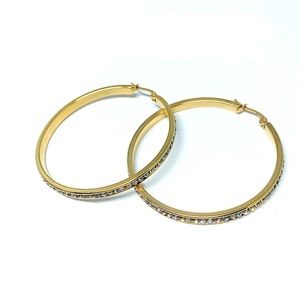Jewelry - Gold Swarovski Crystal Stainless Steel
